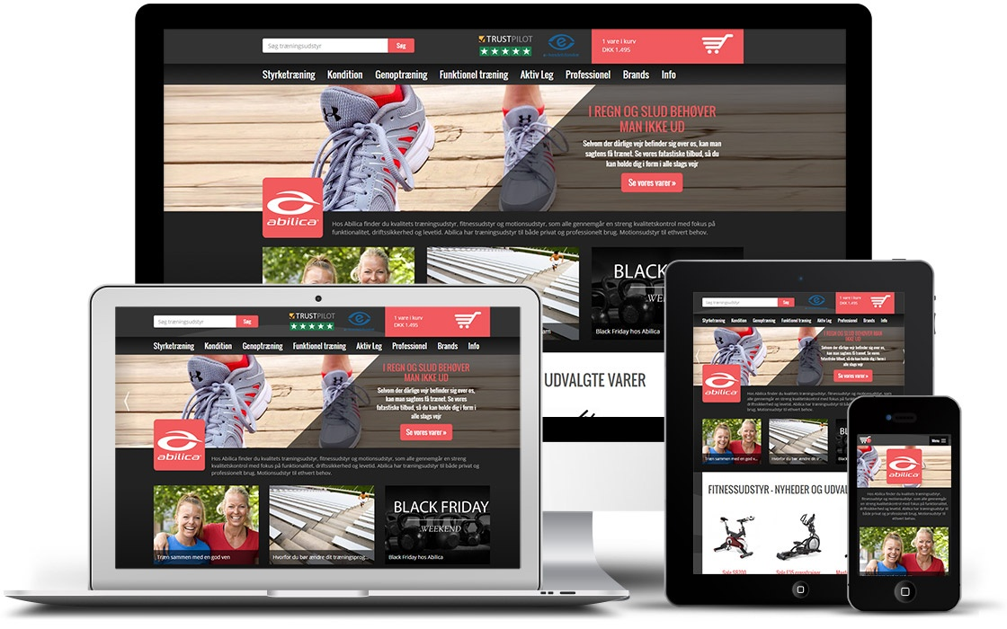 Responsivt website til Abilica Online
