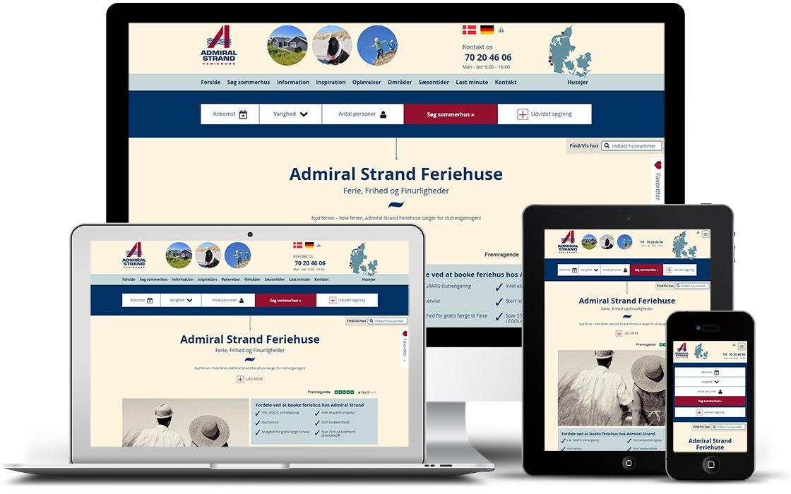 Admiral Strands responsive website