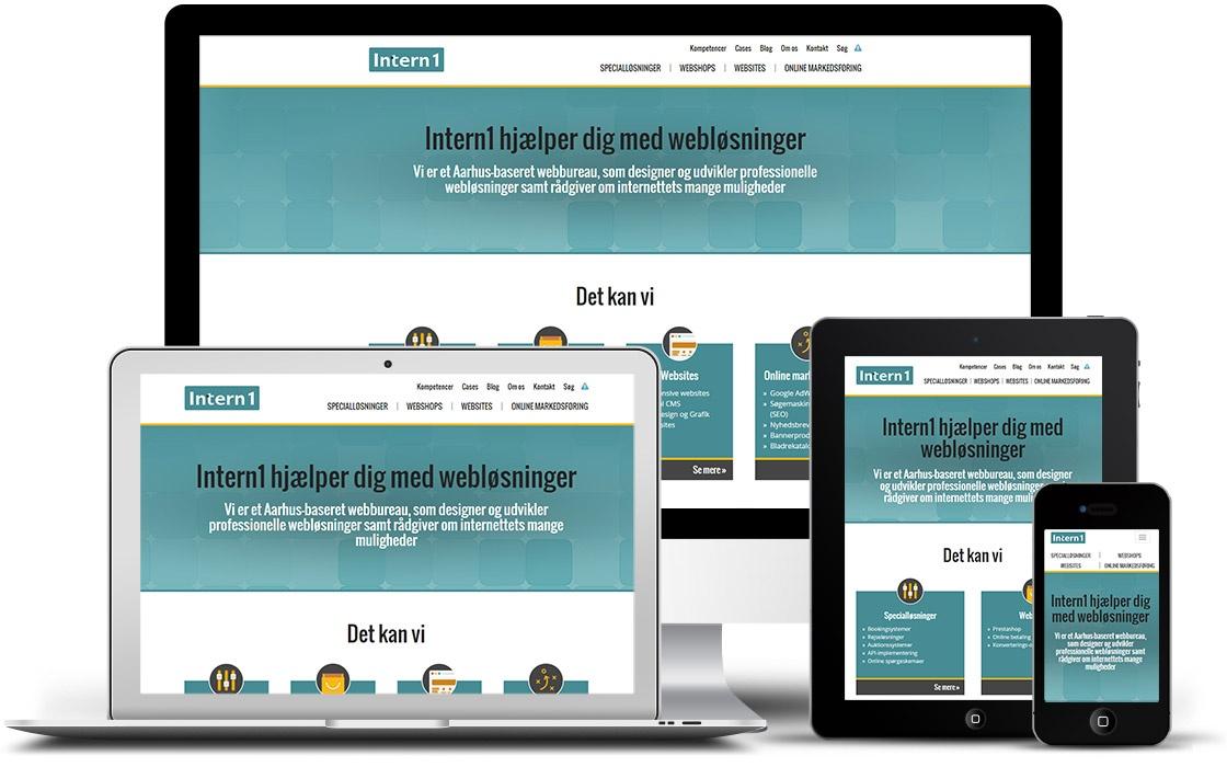 Vores eget responsive website