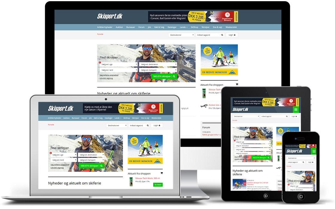 Portalen Skisport.dk med online shop